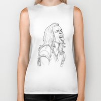 harry styles Biker Tanks featuring Harry Styles by Cécile Pellerin