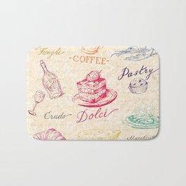Chef Food Coffee Wine Bath Mat