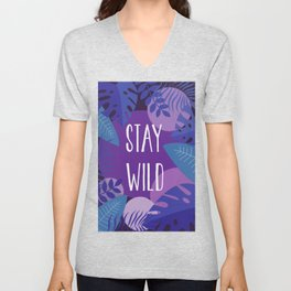 Stay Wild Purple Jungle Unisex V-Neck