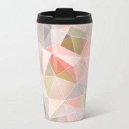 Broken glass in warm colors. Travel Mug