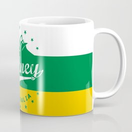 Sydney City, Australia, green yellow, poster Coffee Mug