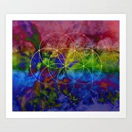 Psychedelic Seed of Life Art Print