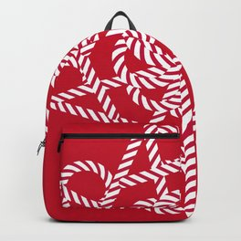 Candy cane flower 1 Backpack