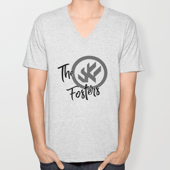 "The Fosters Band Shirt - ""The Ultimate Wingman"" Klance Fic (Gray Logo) Unisex V-Neck"