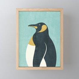 FAUNA / Emperor Penguin Framed Mini Art Print