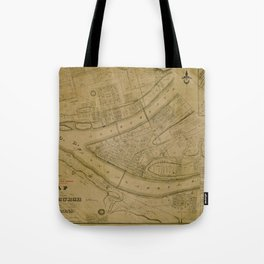 Map Of Pittsburgh 1830 Tote Bag