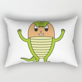 Crocodile Egg Rectangular Pillow