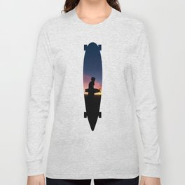 Longboard Silhouette Long Sleeve T-shirt