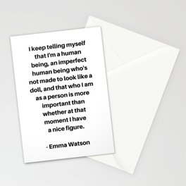 Emma Watson Feminist Quote Stationery Cards