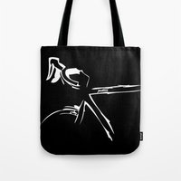 bike Tote Bags featuring Bike by Pedlin