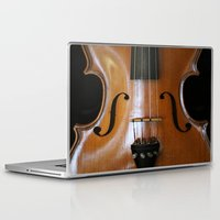 violin Laptop & iPad Skins featuring Violin by Päivi Vikström
