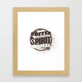 Coffee Is My Spirit Animal Coffee Stain Framed Art Print