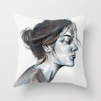 lucy Throw Pillows featuring Lucy by Chloe Gibb