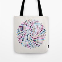 aelwen Tote Bags featuring High Life (III) by Angelo Cerantola