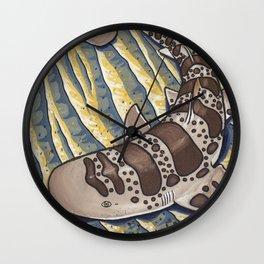 Leopard Shark Surf Wall Clock