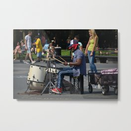 Drummin' Metal Print