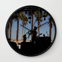 coachella Wall Clocks featuring EMA / Coachella by The Electric Blue / Yen-Hsiang Liang (Gr