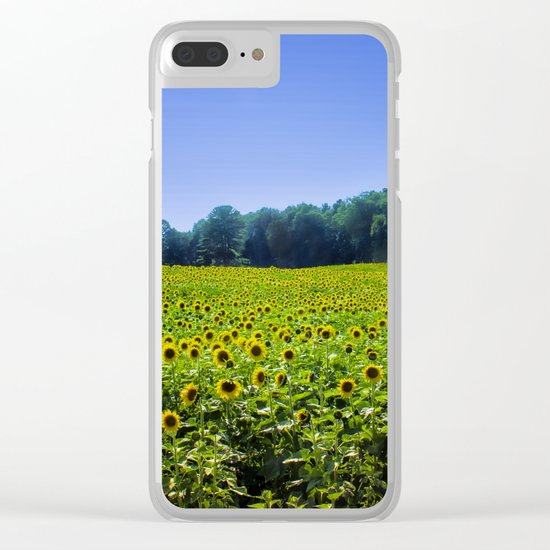 Field of Sunflowers Clear iPhone Case
