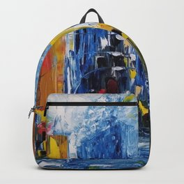 City of Colors, NYC Art, New York Art, NYC city scene, city scape Backpack