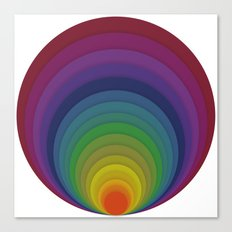 Rainbow circles Canvas Print