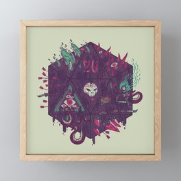 Die of Death Framed Mini Art Print