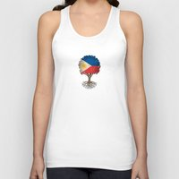 philippines Tank Tops featuring Vintage Tree of Life with Flag of Philippines by Jeff Bartels