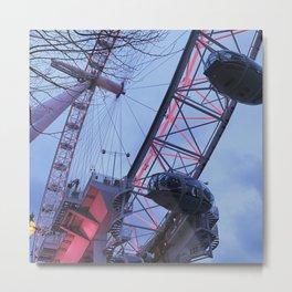 London: Ferris Wheel in Winter Metal Print