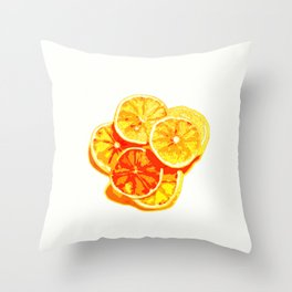 Sliced Oranges Throw Pillow