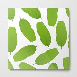 Banana leaves seamless pattern Metal Print