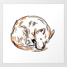 Tero Sleeping I Art Print