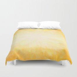 Golden Sunburst Duvet Cover