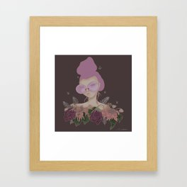 Rose colored glasses and Flowers Framed Art Print