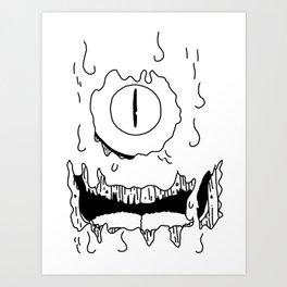 Friendly Slimester Art Print