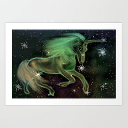 Cosmic Unicorn Art Print