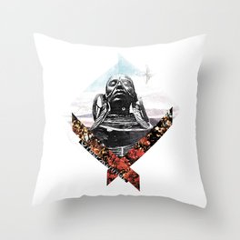 """Outcasts""   collage art Throw Pillow"