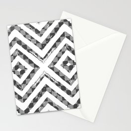 Grey Checkered Paattern Stationery Cards