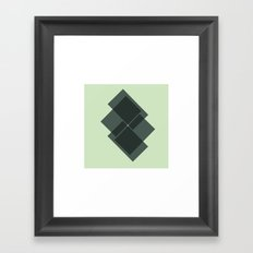#39 Downstairs – Geometry Daily Framed Art Print