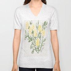 Yellow Roses Unisex V-Neck