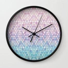 Spring Mermaid Scales Wall Clock