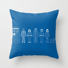 A Family of 10 Throw Pillow