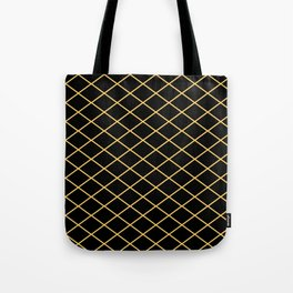 Diamond Lines - Gold Tote Bag