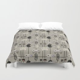 Paper Cut-Out Video Game Controllers Duvet Cover