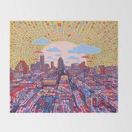 austin texas city skyline Throw Blanket