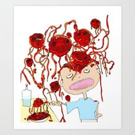 Mom! I don't like meatballs Art Print