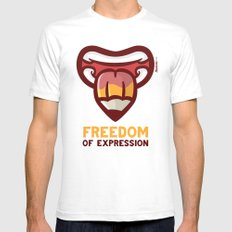 Freedom Mens Fitted Tee SMALL White