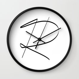 """"""" Singles Collection """" - One Line Minimal Letter R Print Wall Clock"""