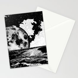 Night tide Stationery Cards