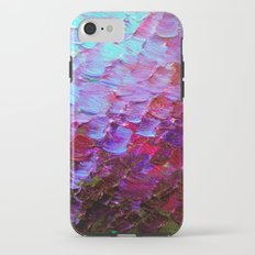 MERMAID SCALES - Colorful Ombre Abstract Acrylic Impasto Painting Violet Purple Plum Ocean Waves Art iPhone 7 Tough Case