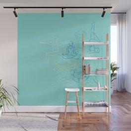 Turquoise Yoga Wall Mural