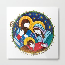 Nativity scene Metal Print